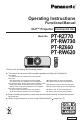 Panasonic PT-RW730